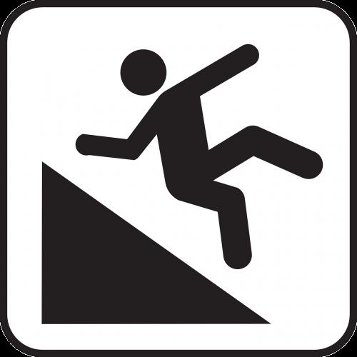 hillslope falling man