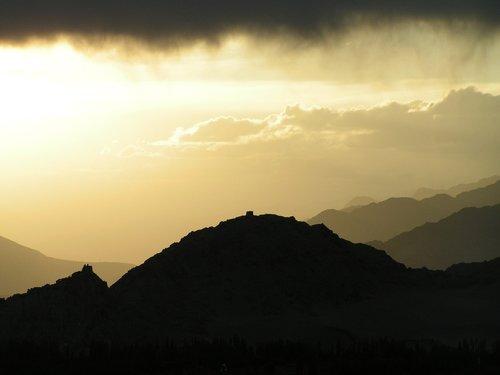 himalaya  sunset  mountain