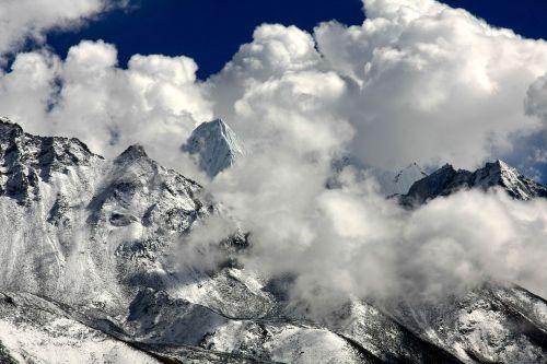 himalayas cloud mood mountains