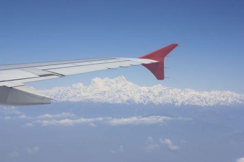 himalayas aerial mountains
