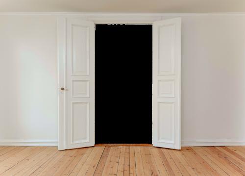 hinged doors door input