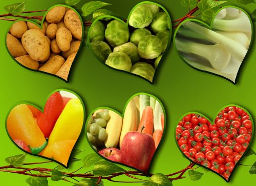 vegan,background,image,yellow,diet,eating,vegetarian,fruit,vegetables,healthy,eat,heart,potato,brusselsprouts,tomato,banana,carrot,nutrition,vitamins,food,freeillustrations,freepictures,background wallpaper