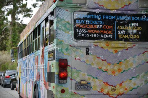 hippie bus soap bubbles