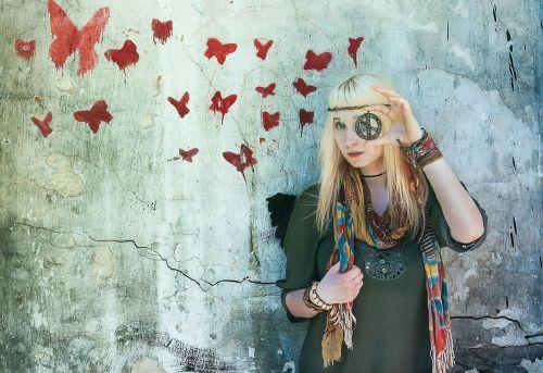 hippie butterflys colour
