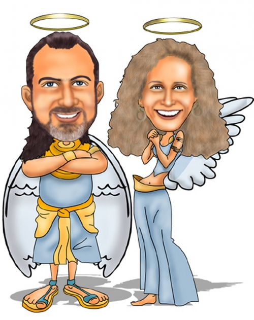 hippies angels angelic couple