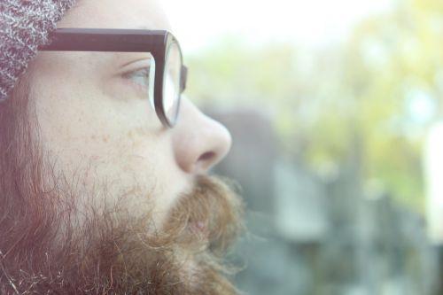 hipster glasses beard
