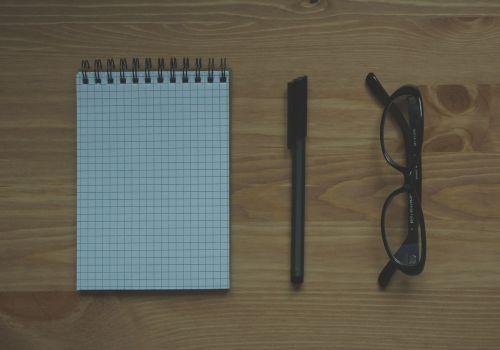 hipster glasses pen