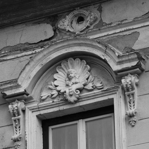 historic house above the window ledge decorative architectural element