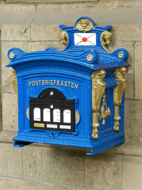 historical letter box post mail box post