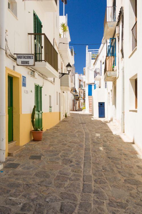 Historical Street In Spain