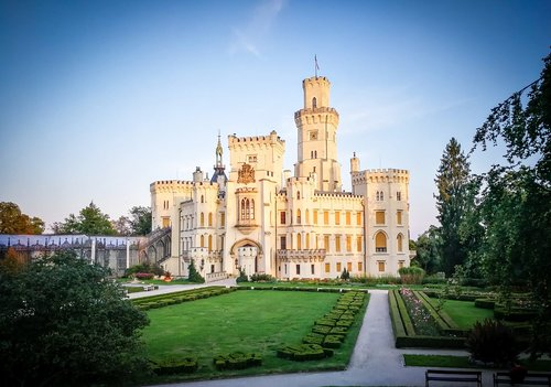 hluboka  czech republic  castle