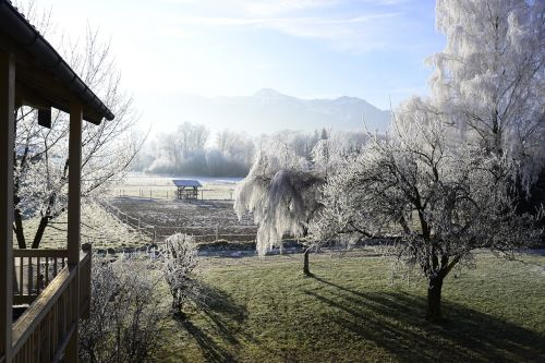 hoarfrost mountains landscape
