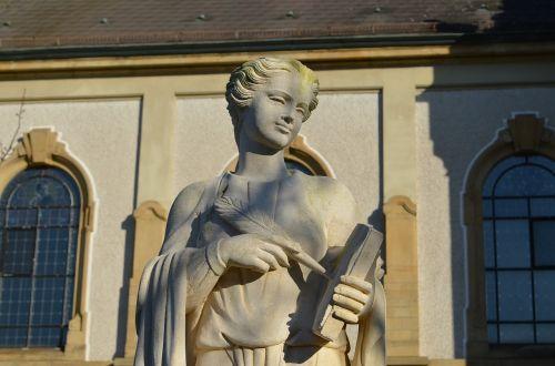 Hockenheim germany,bažnyčia,protestantas,statula,aukštis