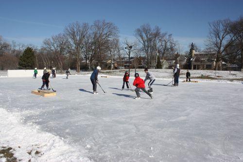 hockey pond hockey outdoor hockey