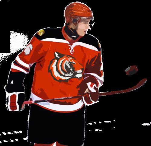 hockey player puck