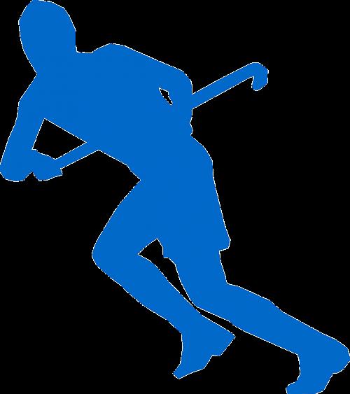 hockey hockey stick running