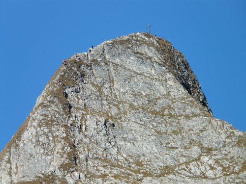 höfats,kraigas,rytų aukščiausio lygio susitikimas,viršūnių susitikimas,kalnai,aukščiausiojo lygio susitikimas,alpinistas,alpinizmas,kietas,eksponuotos,kalnas,Allgäu,Allgäu Alpės,Alpių,žygiai,kalnų žygiai,Rokas,pietų pietryčių griuvėsiai,rožinis,Pietryčių siena