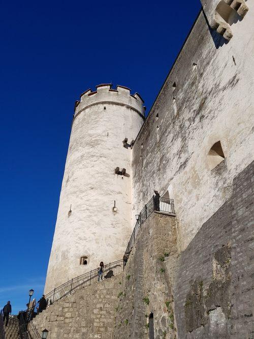 hohensalzburg castle city walls