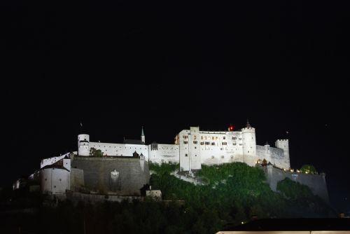 Hohensalzburg Fortress At Night