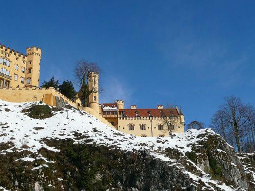 hohenschwangau rock castle