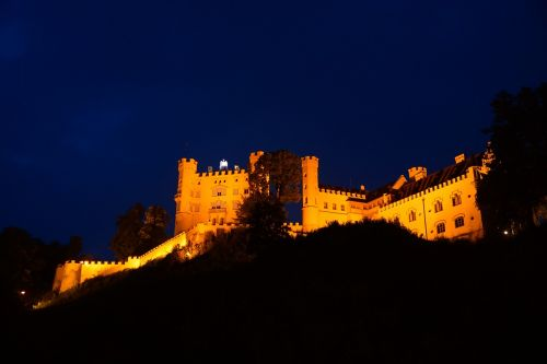 hohenschwangau castle night