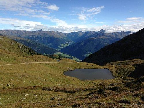höhenweg  view  alpine