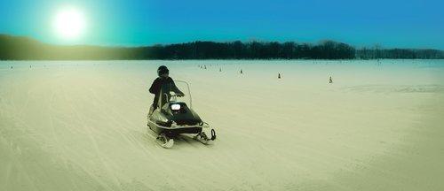 hokkaido  snowmobile  snow