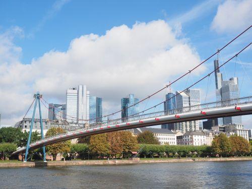 holbeinsteg pedestrian bridge frankfurt