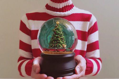 holiday snow globe christmas