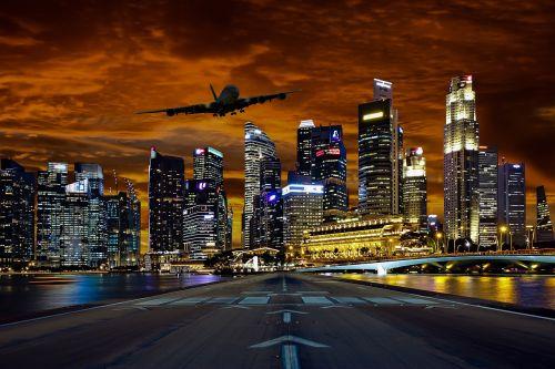 šventė,atostogos,vasara,vasaros atostogos,žiemos atostogos,orlaivis,Singapūras,skristi,panorama,saulėlydis,takas,žibintai,vaizdo redagavimas,žemė,pradėti,nusileidimas,kelionė,verslo susitikimas