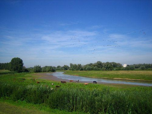 holland river landscape idyll