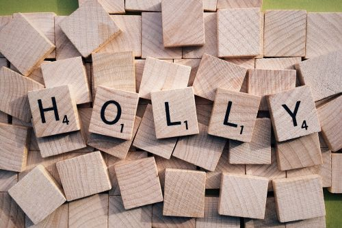 holly christmas scrabble