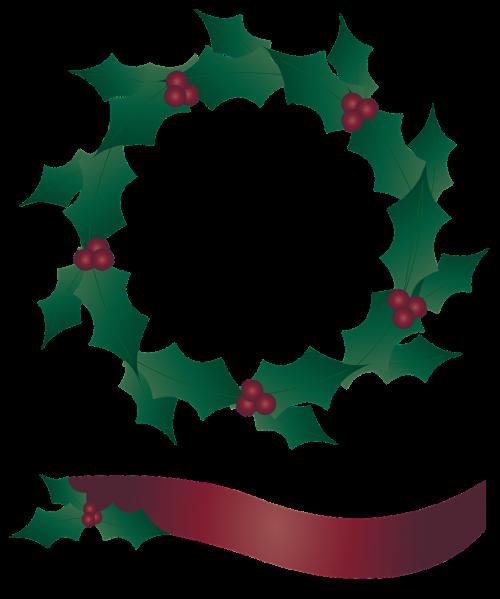 holly wreath wreath banner