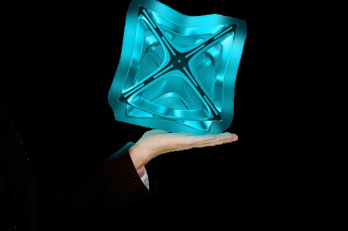hologram hand light