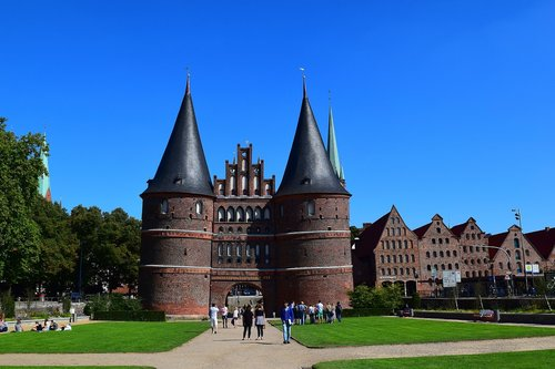 holsten gate  lübeck  landmark
