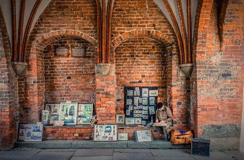 holsten gate  street painter  street traders