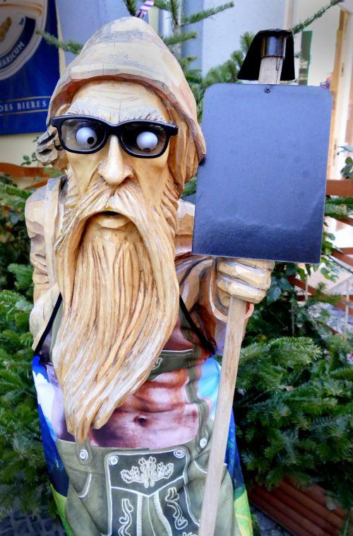 holzfigur carving waldschrat