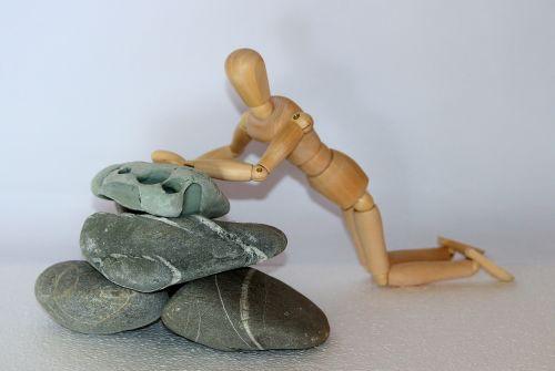holzfigur stones plunge