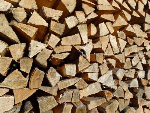 holzstapel firewood growing stock