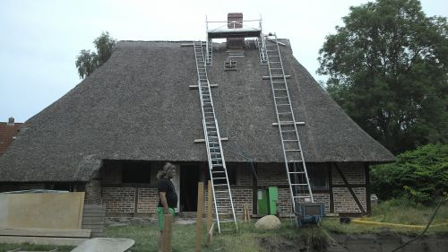 home reed roof renovation