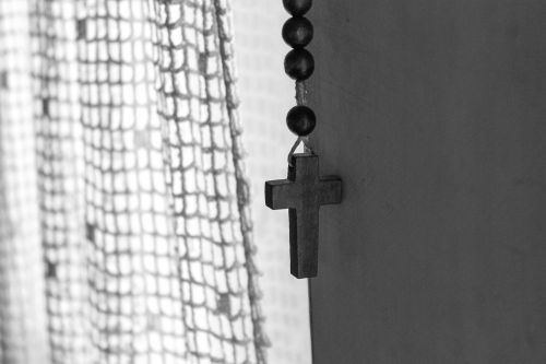 home black and white cross