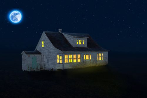home illuminated night