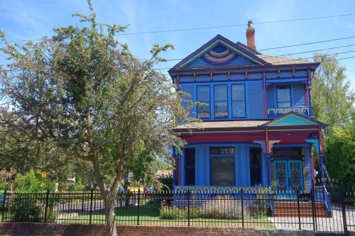 home blue victorian