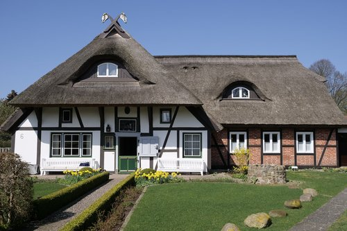 house  thatched roof  thatched