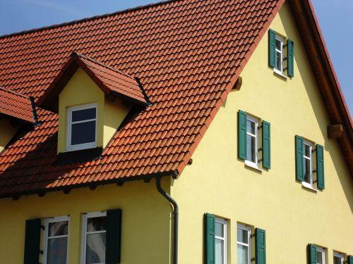 home yellow facade