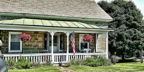 home stone porch
