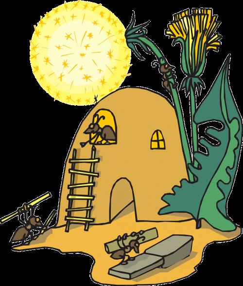 namai,smėlis,lapai,gėlė,ant,kalnas,vabzdys,purvas,nemokama vektorinė grafika