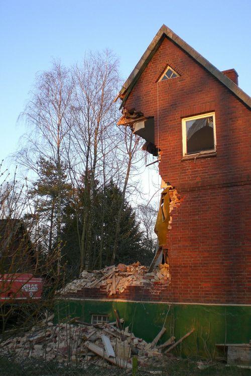 home demolition destroyed