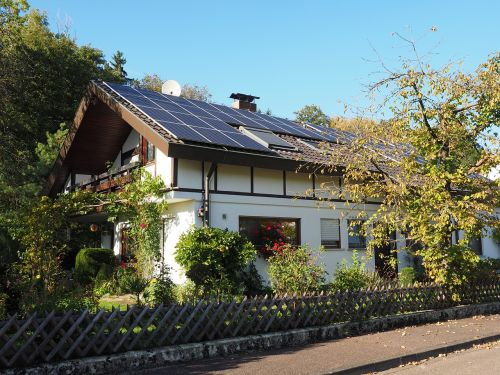 home house roof solar cells