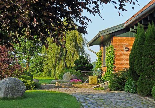 home garden idyllic rural